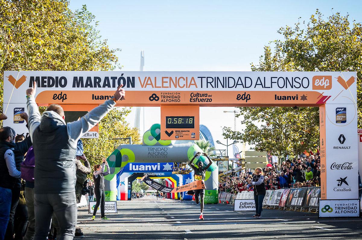 Полумарафон в Валенсии приобретает статус «Самый быстрый в мире» благодаря победе Абраама Киптума